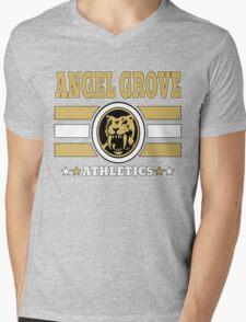 Angel Grove Athletics - Yellow Mens V-Neck T-Shirt