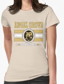 Angel Grove Athletics - Yellow Womens Fitted T-Shirt