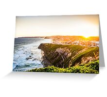 Bar Beach Sunset Greeting Card
