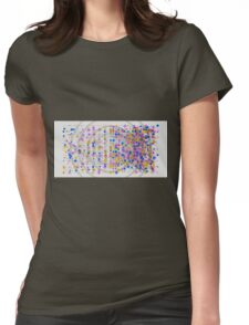 Don't Panic - Abstract CG Womens Fitted T-Shirt