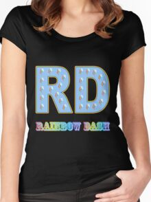 My little Pony - Initials Rainbow Dash - Black Women's Fitted Scoop T-Shirt
