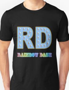 My little Pony - Initials Rainbow Dash - Black T-Shirt