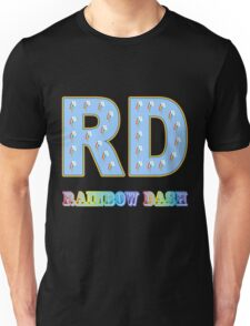 My little Pony - Initials Rainbow Dash - Black Unisex T-Shirt
