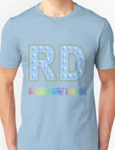 My little Pony - Initials Rainbow Dash - Black T-Shirt