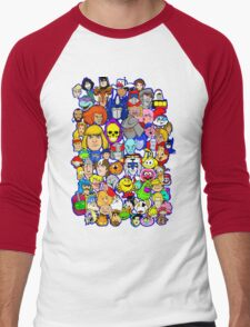 saturday morning collage Men's Baseball ¾ T-Shirt