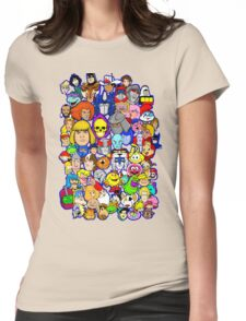 saturday morning collage Womens Fitted T-Shirt