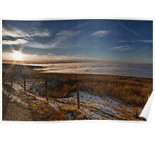 Cloud Inversion, Hartside. UK Poster