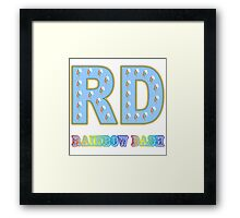 My little Pony - Initials Rainbow Dash - White Framed Print
