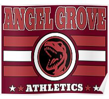 Angel Grove Athletics - Red Poster