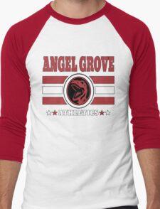 Angel Grove Athletics - Red Men's Baseball ¾ T-Shirt