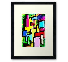 Happy City Framed Print