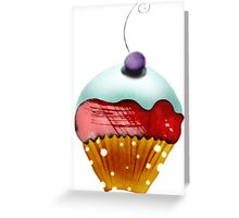 cupcake icecream dessert art Greeting Card