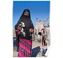 Egypt. Bedouin Girl. Poster