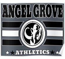 Angel Grove Athletics - Black Poster
