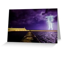 Lightning at the Ocean Baths Greeting Card