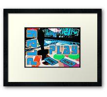 Play - Arcade Life Framed Print