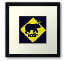 Beer? Framed Print