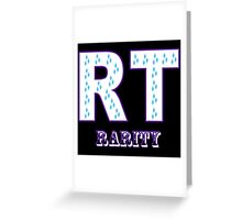 My little Pony - Initials Rarity - Black Greeting Card