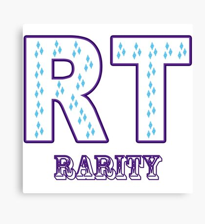 My little Pony - Initials Rarity - White Canvas Print