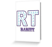 My little Pony - Initials Rarity - White Greeting Card