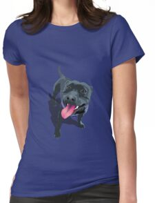 Staffy Womens Fitted T-Shirt