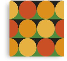 70's retro style dotted pattern Canvas Print