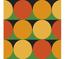 70's retro style dotted pattern Photographic Print