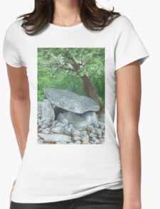 Dyffryn Burial Chamber, Wales - watercolour Womens Fitted T-Shirt