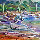 Colors Of Water- Winnererremy Bay, Pittwater, Mona Vale, Australia by Paulina Kazarinov
