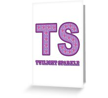My little Pony - Initials Twilight Sparkle - White Greeting Card