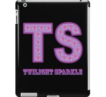 My little Pony - Initials Twilight Sparkle - Black iPad Case/Skin