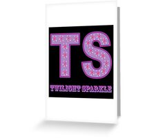 My little Pony - Initials Twilight Sparkle - Black Greeting Card