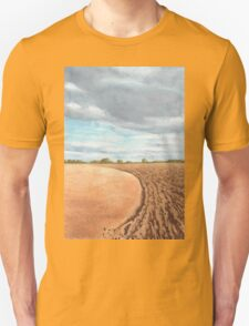 Ploughed Field, Shropshire - watercolour Unisex T-Shirt