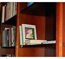 Hotel Bookshelf Photographic Print