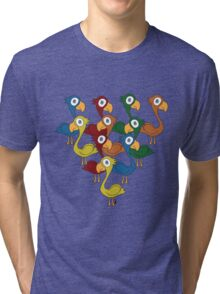 A fabulous feathered flock Tri-blend T-Shirt