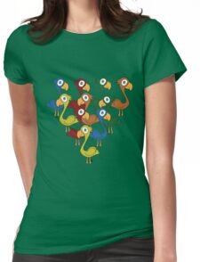 A fabulous feathered flock Womens Fitted T-Shirt