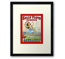 Sells Floto Circus M'lle Beeson High Wire vintage poster Framed Print