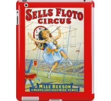 Sells Floto Circus M'lle Beeson High Wire vintage poster iPad Case/Skin