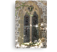 11th Century Church Stained Glass Window Canvas Print