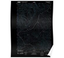 USGS Topo Map Oregon Toney Butte 20110825 TM Inverted Poster