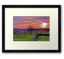 Sunset from The Roaches Framed Print