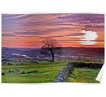 Sunset from The Roaches Poster