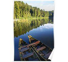 Wood raft Poster