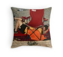Perfectly Set Up Throw Pillow