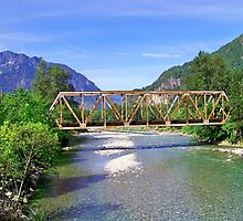 Railroad Bridge at Index by Judy Wanamaker