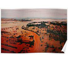 Pakistan flood landscape Poster