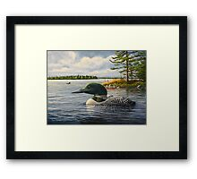 """""""Loon On The Roseway"""" Framed Print"""