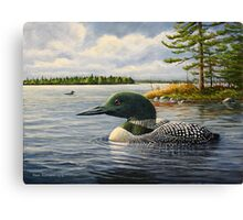 """""""Loon On The Roseway"""" Canvas Print"""