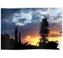Sunset on my street Poster