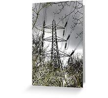 Pylons, all guns blazing Greeting Card